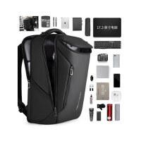 双肩包男士包包多功能商务17寸电脑包休闲书包大容量出差旅行背包