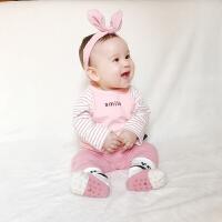婴儿衣服4个月3冬季女宝宝上衣儿童洋气裤子春秋装
