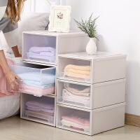 收纳柜抽屉式家用衣柜收纳盒薄被收纳箱衣物储物盒内衣收纳抽屉柜 3层