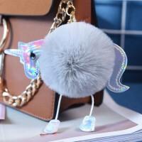 手机挂件毛绒玩具毛球钥匙扣卡通玩偶书包挂饰包包