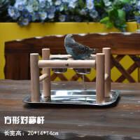 木制鸟架子 鹦鹉桌面站架小型站杆牡丹虎皮训鸟架互动架鸟用品