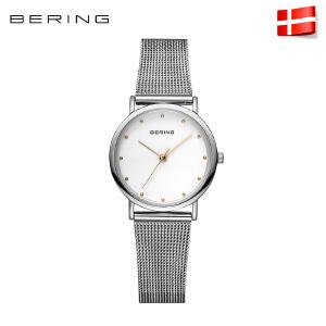 Bering白令女士手表进口防水石英表女表简约时尚钢带腕表13426