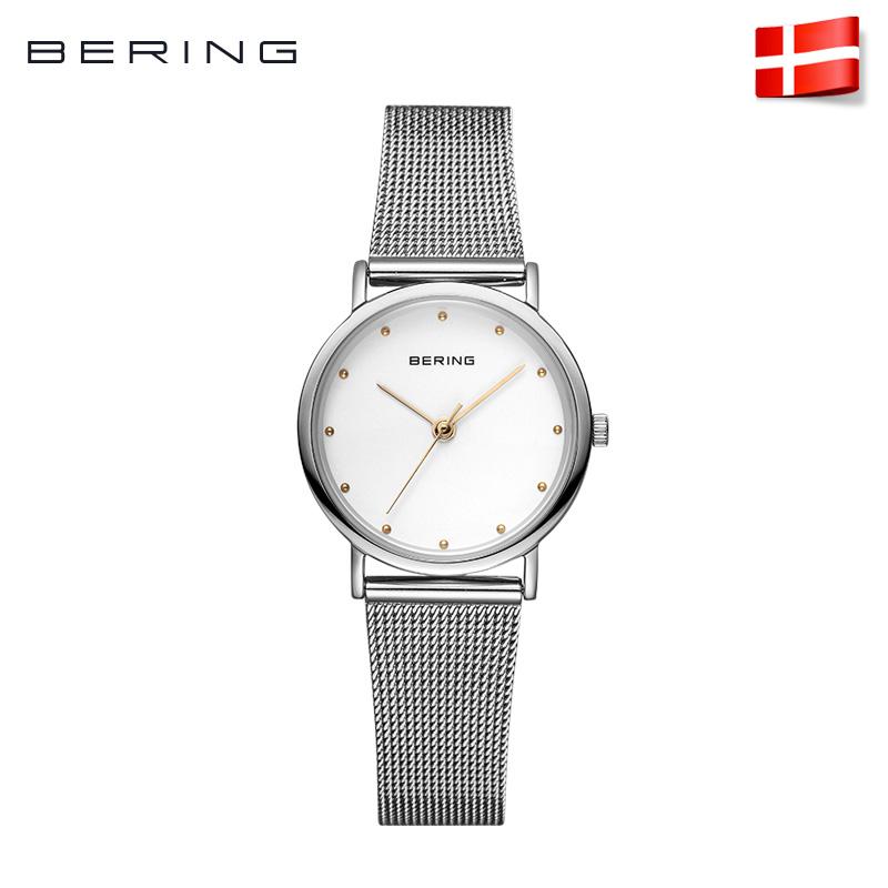 Bering白令女士手表进口防水石英表女表简约时尚钢带腕表13426官方正品  简洁设计