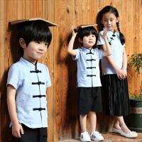 亲子装夏装潮春装女童中国风母女装民族唐装汉服套装
