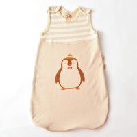 贝萌 婴儿睡袋春夏季薄款全棉新生儿童防踢被 男孩女孩宝宝彩棉