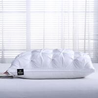 羽绒枕五星级酒店羽绒枕芯纯白鹅绒鹅毛护颈枕单人双人枕头