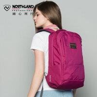 诺诗兰户外男女双肩包休闲徒步旅行电脑学生背包B990151