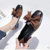 ins超火的鞋子网红同款韩版厚底松糕鞋英伦风复古软妹小皮鞋女
