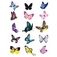 蝴蝶厕所马桶贴画浴室卫生间瓷砖玻璃防水墙贴柜子冰箱贴纸装饰 粉红色 小
