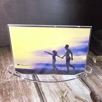 【品牌热卖】个性创意礼品亚克力月亮摇摆相架水晶摆台相框67寸八8寸送洗照片
