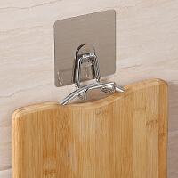 双庆无痕贴砧板挂钩粘钩创意厨房菜板挂钩壁挂免打孔案板挂钩