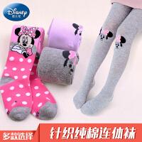 迪士尼儿童连裤袜春秋季女童打底裤薄款女孩米妮长筒袜子