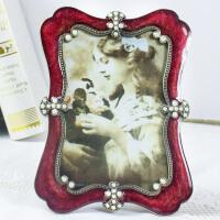 欧式轻奢珍珠相框摆台创意小奢华个性7寸10婚纱照床头柜相架摆件
