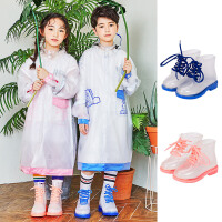 kk树儿童雨鞋男童学生四季通用防滑透明小孩雨靴女童公主宝宝水鞋