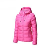运动棉衣女冬季女士保暖连帽外套韩版修身女防风上衣
