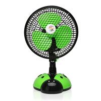 迷你学生宿舍小风扇时尚潮流静音大风力桌面办公室迷你小风扇电扇 绿色 均码