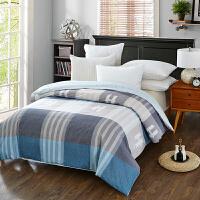 当当优品 纯棉斜纹床上用品 被罩 200*230cm  蓝调空间(蓝)