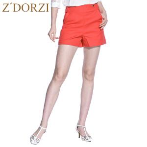 zdorzi卓多姿春夏新款短裤 高腰时尚韩版修身纯色短裤女632527