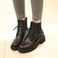 O'SHELL欧希尔新品059-A-7英伦低跟女士短靴