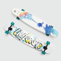 滑板长板舞板女生dancing代步公路四轮滑板新手专业刷街跳舞长板 双面图案