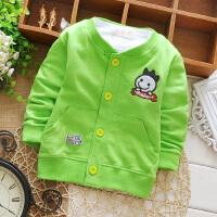 男童女童春秋薄外套1-2-3岁宝宝休闲开衫纯棉衣服5-9个月婴儿上衣