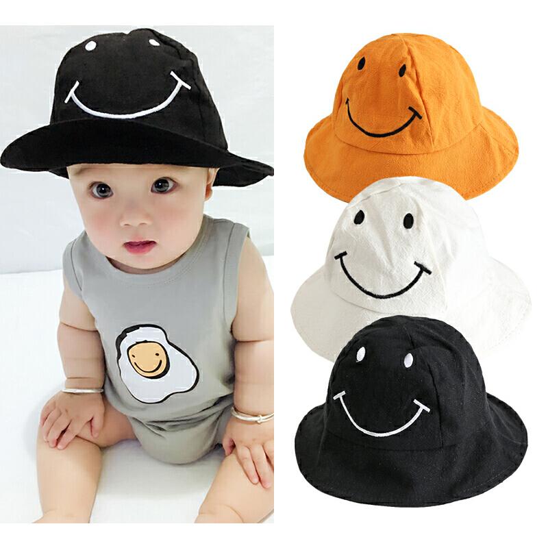 婴儿帽子夏天女宝宝遮阳帽新生儿男太阳帽笑脸盆帽防晒软帽渔夫帽 发货周期:一般在付款后2-90天左右发货,具体发货时间请以与客服协商的时间为准