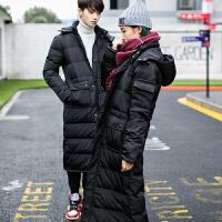 大码男装冬季加厚保暖棉衣外套情侣装男女超长保暖棉衣棉袄外套潮