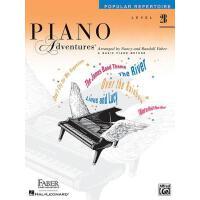 英文原版 菲伯尔钢琴基础教程(2B级):流行曲集 Piano Adventures: Level 2B: Popular