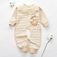 贝萌 婴儿服装连体衣春秋婴幼儿宝宝衣服爬服哈衣新生儿纯棉秋装睡衣
