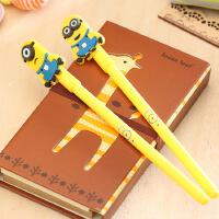 文具小清新动漫小黄人中性笔 0.5mm 可爱水笔 创意水性笔