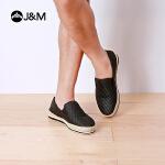 【低价秒杀】jm快乐玛丽平底套脚浅口男士草编渔夫鞋休闲鞋帆布鞋男鞋子