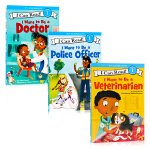 I can read系列 I Want to Be a Doctor&police officer&Veterinar
