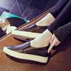 毅雅春季新款女鞋内增高乐福鞋女平底单鞋休闲鞋增高鞋坡跟TD6NN0029