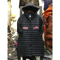 J5冬装新款羽绒服女轻薄中长款连帽韩版外套腰带修身显瘦0.55