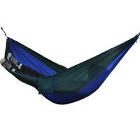 加厚 加宽320D降落伞布吊床 室内 户外秋千 双人吊床 便携式宿舍安全 绿拼蓝
