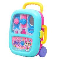 亲童儿童过家家手提拉杆箱新品女孩仿真饰品玩具套装仿真动物套装