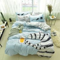 可爱卡通四件套 儿童d1.5m米三件套床单床笠床上用品1.8 1.5m床笠款 被套200*230