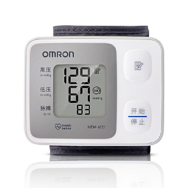 [当当自营]欧姆龙(OMRON)电子血压计 HEM-6121 精巧腕式小巧易操作,随时随地测血压!