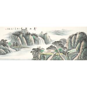 中国美术家协会会员 李春海《青山聚秀》1.8 米