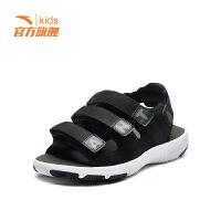 安踏(ANTA)男童鞋中大童沙滩鞋防滑舒适凉鞋31824694黑/安踏白/深灰33