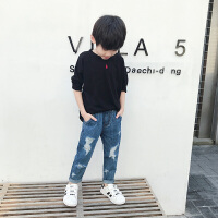 男童长袖T恤秋装 中大童体恤童装儿童打底衫