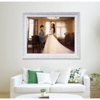 实木婚纱儿童全家福16寸20寸24寸相框挂墙A3a4支架摆台画框架