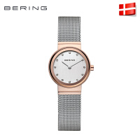 Bering白令北欧风时尚镶钻腕表 简约手表石英表钢带女表10126