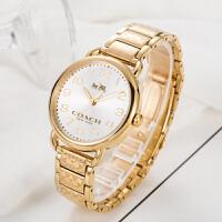 【网易考拉】COACH 蔻驰 女士时尚优雅镶钻石英手表皮带腕表