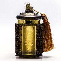 送客户实用礼品琉璃茶叶罐摆件办公室礼品定制创意礼品