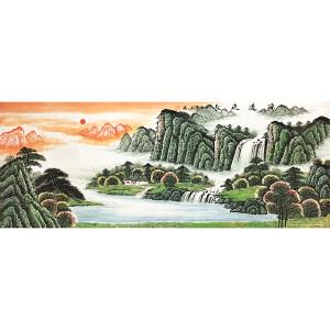 潘兴鹏《源远流长》著名山水画家
