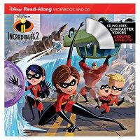 【预订】【Disney】Incredibles 2,【迪斯尼】故事书+CD・超人总动员2 适合4-8岁