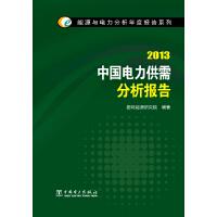 能源与电力分析年度报告系列 2013 中国电力供需分析报告