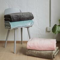 伊丝洁家纺毛毯被子 加厚保暖珊瑚绒毯冬季法莱绒毯办公室小毛毯儿童毯子