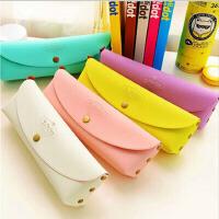 韩国PVC盒装可爱时尚创意简约马卡龙糖果色笔袋